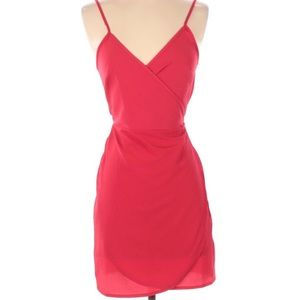 ASOS red wrap summer dress size S. NWT